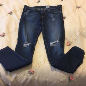 AG Distressed Skinny Jeans 27R